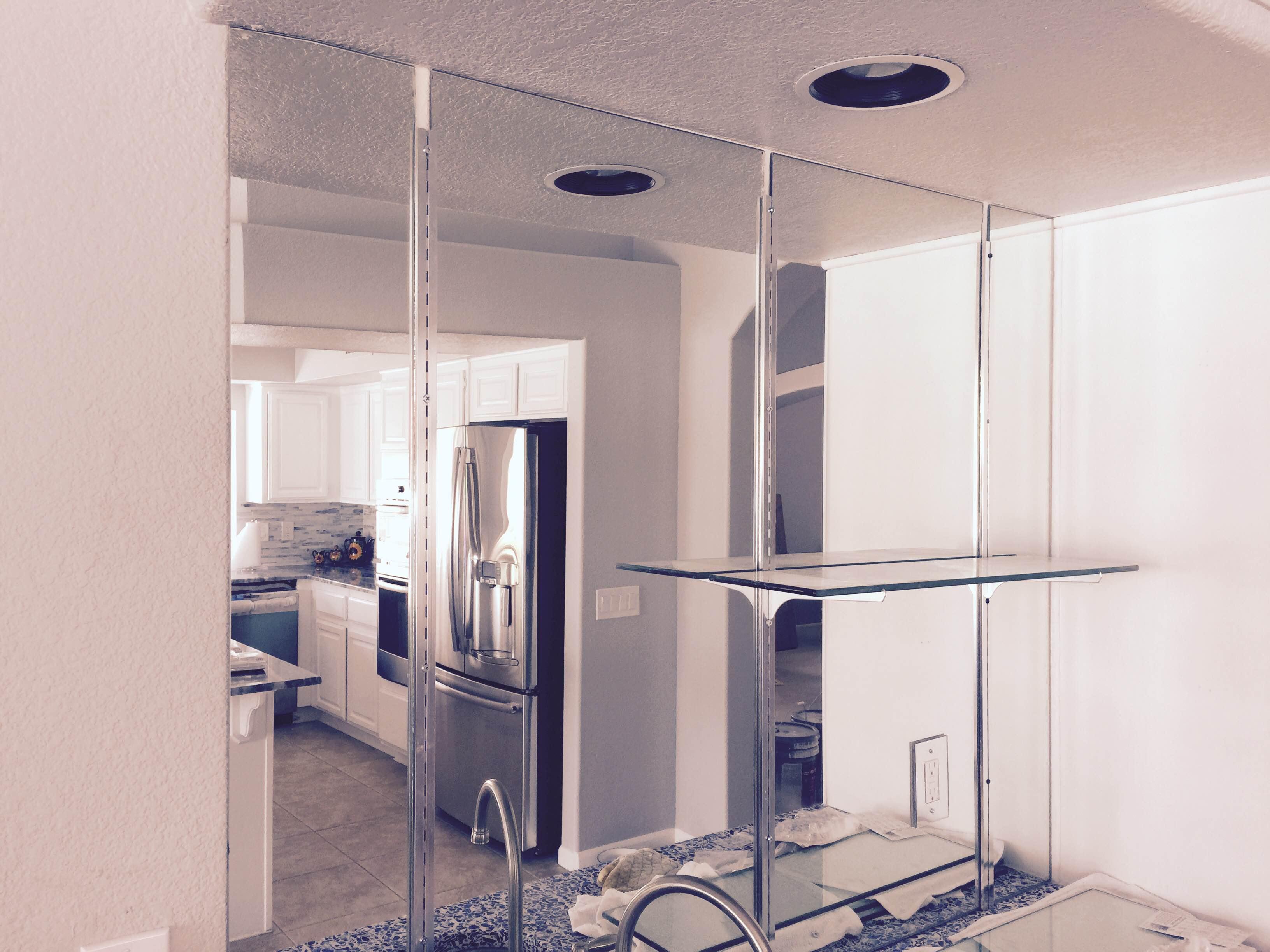 Custom mirrors phoenix az area by window glass pros for Mirror installation